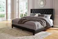 Vintasso Black Queen Upholstered HDBD/FTBD/Roll Slats