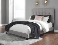 Adelloni Gray Queen Upholstered HDBD/FTBD/Roll Slats