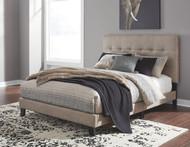 Adelloni Light Brown Queen Upholstered HDBD/FTBD/Roll Slats