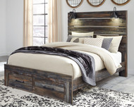 Drystan Multi Queen Panel Bed with 2 Storage Drawers