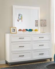 Brynburg White Dresser & Mirror