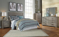 Culverbach Gray 4 Pc. Dresser, Mirror, Chest & Queen Headboard Bed
