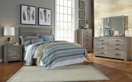 Culverbach Gray 4 Pc. Dresser, Mirror, Chest & Queen Headboard Bed