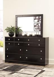 Mirlotown Almost Black Dresser, Mirror