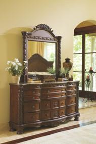 North Shore Dark Brown Dresser, Mirror