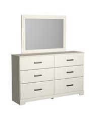 Stelsie White Dresser, Mirror