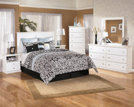 Bostwick Shoals 4 Pc. Dresser, Mirror, Chest & Queen Headboard Bed