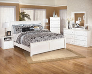 Bostwick Shoals White 8 Pc. Dresser, Mirror, Chest, Queen Panel Bed & 2 Nightstands