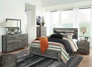 Cazenfeld Black/Gray 7 Pc. Dresser, Mirror, Chest, Queen Panel Bed & Nightstand