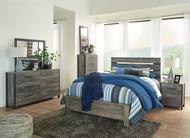 Cazenfeld Black/Gray 6 Pc. Dresser, Mirror, Queen Panel Bed & Nightstand