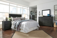 Brinxton Black 4 Pc. Dresser, Mirror, Chest & Queen Headboard Bed