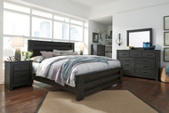 Brinxton Black 7 Pc. Dresser, Mirror, King Poster Bed & 2 Nightstands
