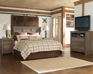 Juararo 3 Pc. Dresser, Mirror & Queen Panel Headboard