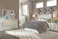 Dreamur 4 Pc. Dresser, Mirror, Chest & Queen Panel Headboard