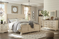 Bolanburg Two-tone 8 Pc. Dresser, Mirror, Chest, Queen Louvered Bed & 2 Nightstands