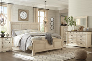 Bolanburg Two-tone 7 Pc. Dresser, Mirror, King Panel Bed & 2 Nightstands