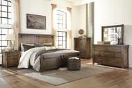 Lakeleigh Brown 9 Pc. Dresser, Mirror, Chest, Queen Panel Bed, 2 Nightstands & Arturo Duvet Cover Set