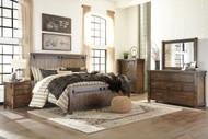 Lakeleigh Brown 7 Pc. Dresser, Mirror, Queen Panel Bed & 2 Nightstands