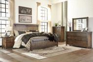 Lakeleigh Brown 7 Pc. Dresser, Mirror, King Panel Bed & 2 Nightstands