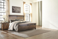 Lakeleigh Brown 4 Pc. Queen Panel Bed & Nightstand