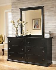 Maribel Black Dresser & Mirror
