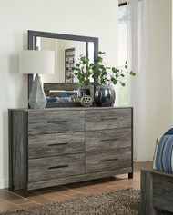 Cazenfeld Black/Gray Dresser & Mirror