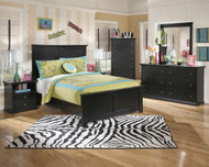 Maribel 5 Pc. Dresser, Mirror & Full Panel Bed