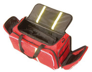 Deluxe Oxygen Bag with Large Main Compartment, Polyester Red, MedSunline