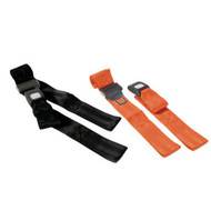 Restraint Strap 150cm with Loop Ends, Auto Buckle, Black - Rescuer brand