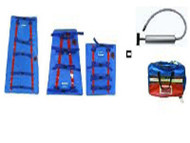 Vacuum Extremity Splint Set (3) with Case & aluminium Hand Pump