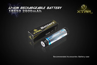 Xtar 18650 (18700) 2600mAh 3.7V Li Ion Bp1 protected rechargeable battery - 4 Pack