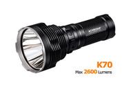 K70 cree xhp35 2600lm throw 1300m Flashlight Acebeam