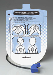 Defibtech Replacement Infant/Pediatric Electrode Pads - for Lifeline AED ** LIFELINE SEMI & AUTO Units Only **