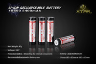 Battery rechargeable 18650 3400mAh 3.7V Li Ion Panasonic/SANYO core XTAR  Bp1 protected
