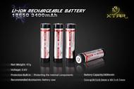 Battery rechargeable 18650 3400mAh 3.7V Li Ion Panasonic/SANYO core XTAR  Bp1 protected