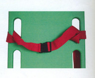 Restraint Strap Two Piece Plastic Buckle Loop ends 155cm Long  Colour Red Shown