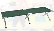 Folding Camp Stretcher with Heavy Duty Legs