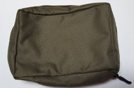 Green Cordura zip pouch - pack of 10