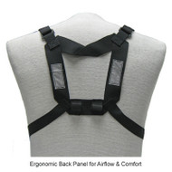 XL Back Straps Ergonomic Back Panel for Airflow and comfort