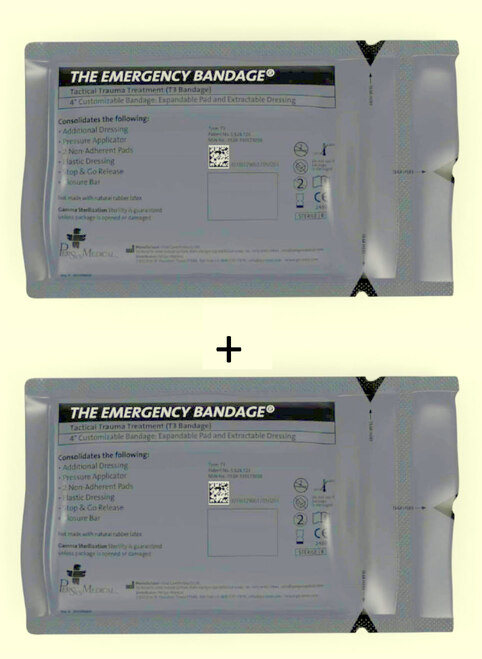 T3  2Pack Tactical Trauma Treatment 'Israeli' Bandage 10x17cm