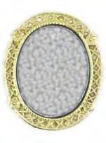 Mirror - Brass Plated and Oval