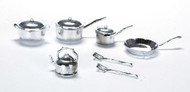 Pot and Pan Set - Silver
