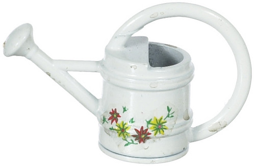 Watering Can - White and Flowers