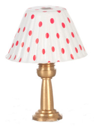 Table Lamp - Red Shade and Non-Electric