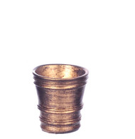 Dollhouse City - Dollhouse Miniatures French Country Pot - Medium and Gold