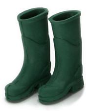 Dollhouse City - Dollhouse Miniatures Rubber Boots - Green