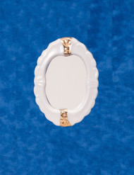 Dollhouse City - Dollhouse Miniatures Porcelain Mirror - Gold Trim