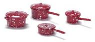 Pot Set - Red Spatterware