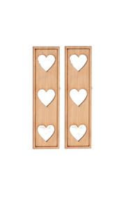 Dollhouse City - Dollhouse Miniatures Heart Cutouts Shutters - Pair