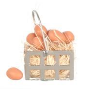 Egg Basket and Brown Eggs